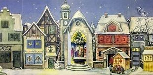 Deutscher Adventskalender für 1946 Village #PinnaclePeakTradingCompany