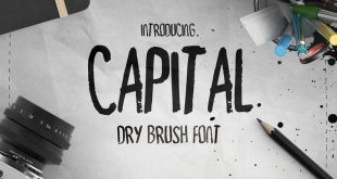 Capital Dry Brush Schriftart #font, #handmade, #capital, #dry, #brush, #titel, #logo ...