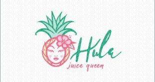 Hula Tropical Ananas Obst Schönheit Juice Queen Logo For Sale