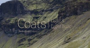 Coats Light & Coats Light Italic von Piñata im Kreativmarkt