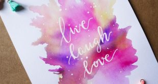 Leben, lachen, lieben love #calligraphie #morningcalligraphy #calligraphy #waterco ...