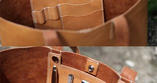 Handmade Leather Tote Bag von LoraynLeather auf Etsy bestellen