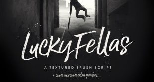 Lucky Fellas Brush Script + Extras - Script