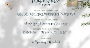 Magic Winter Script Font Duo