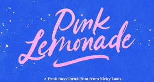 Pink Lemonade Brush Schriftart #ad