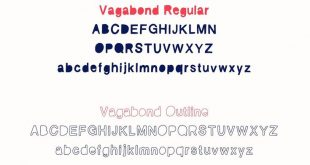 Vagabond Font Set, #Sponsored, # Variationen # Regular # Italic # Family #Ad