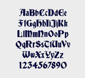 "German Gothic Embroidery Machine Font in 4 sizes (0.5"", 1"", 2"" & 3"") upper and l..."