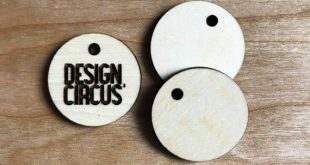 Wooden Logo Tags - personalisierte Mini Holz Runde Crochet Tags - Sew In Tags - Las ...