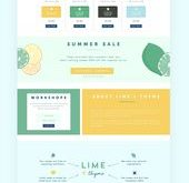 Limette + Thymian - WordPress Website Design von MintSwift | Präsentation des Webdesigns ...