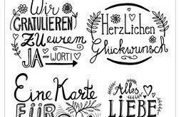 """CraftEmotions Clearstamps """"Handlettering, deutsch"""" - #Clearstamps #CraftEmotions ..."""